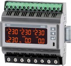 N43 - Трехфазный анализатор качества электроэнергии на DIN рейку